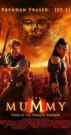 Directed by Rob Cohen.  With Brendan Fraser, Jet Li, Maria Bello, Michelle Yeoh. In the Far East, Alex O'Connell, the son of famed mummy fighters Rick and Evy O'Connell, unearths the mummy of the first Emperor of Qin -- a shape-shifting entity cursed by a witch centuries ago.