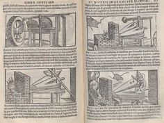 One of the earliest printed books on metallurgy. It contains the first mention of cobalt blue, manganese and the use of sodium chloride for separating gold and silver from base metals. and describes Renaissance methods of casting medallions, statues and bells and the earliest known account of typecasting. The woodcuts show the use of various furnaces, pulleys and tools, and illustrate the making of wire for cloth-of-gold and filigree as well as bells, pottery and (oh yeah) cannons.