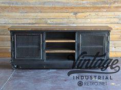 Vintage Industrial Boxcar Ellis Media Console