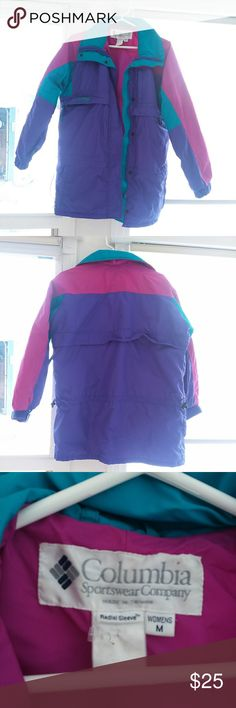 WKND SALE 🎉 Retro style! In excellent condition! Pockets galore, waist cinch. Missing the inside liner, which I assume was fleece at one point but it's nowhere to be found. This jacket is still fairly thick as a shell, though,  and fits true to size! One tiny hole from a campfire ember on the sleeve, unnoticeable.  Open to all offers! Columbia Jackets & Coats
