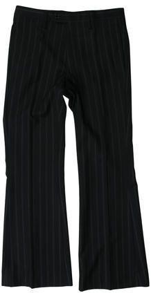 Gucci Striped Wool Pants Mens Dress Pants, Wool Pants, Flare Pants, Black Wool, Gucci, Stylish, Tops, Fashion, Moda