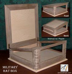 Custom Build Military Shadow Box | Military Hat Box Custom Handcrafted