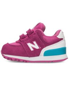 5df188e1a02 New Balance Toddler Girls  574 High Visibility Casual Sneakers - PINK WHITE  6 Sapatilhas