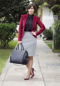 Divina Ejecutiva: Mis Look - Borgoña & Negro