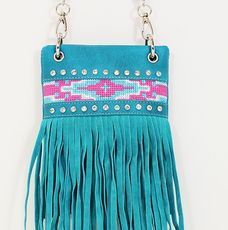 Aztec Fringe Mini Bling Bag