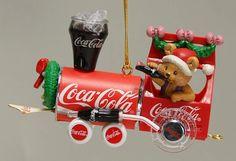 Coca Cola Ornaments Coca-Cola Choo Choo - Boxed by Enesco Coca Cola Bear, Coca Cola Cake, Pepsi Cola, Coca Cola Merchandise, Pop Drink, Vintage Coke, Vintage Signs, Cocoa Cola, Coke Ad