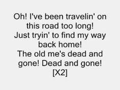 """T.I. - Dead and Gone [Lyrics] - YouTube  """"Old me is dead and gone away """"...  #dead #gone"""