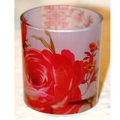 Printed Glass Jeanne Votive/Candle Holder  Strawberry Hill Interior Designs