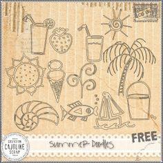 CAJOLINE-SCRAP: summer doodles