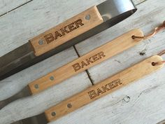 Personalized BBQ Gift Set: Wedding Fathers Day by craftupyourlife