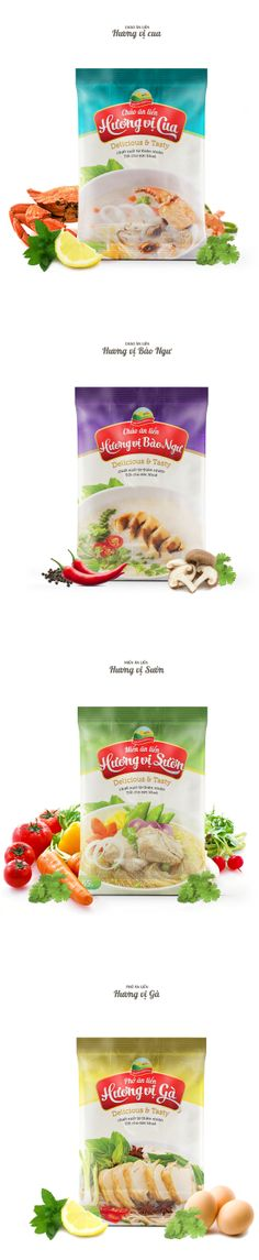 Golden Pack Field Food Brand, Packages Design by Dang Khoa, via Behance