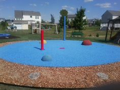 The best back yard fun ever for kids!!!! This residential splash pad has it all and one of the best backyards for active kids. This splashpad has a Flower Shower water play feature, 3 different size Half Sphere and a Small Rain Stick water play feature with Playtop safety surface. #splashpad (And its mine ;-))