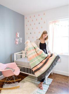 habitacin infantil infantil pared piezas bsicas bunnyland decoracion decoracion espacios decoracion bebes pantalla pared triangulos