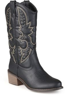 Journee Collection Women's Round Toe Topstitched Western Boots *** Read more reviews of the product by visiting the link on the image.