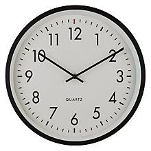 Buy House By John Lewis Metal Wall Clock Black Online At Johnlewis