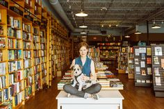 Ann Patchett at her bookstore, Parnassus Books, in Nashville, with one of her shop dogs. Credit Heidi Ross  Ann Patchett's Guide for Bookstore Pilgrims - The New York Times