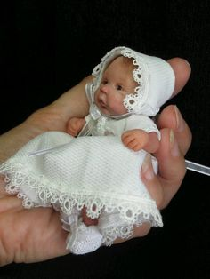 OOAK polymer clay mini baby girl by Susana Langa * resell *to Melinda