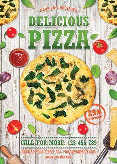 pizza flyer template print templates business ideas pinterest