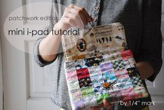 "1/4 de marca "": Tutorial: mini-bolsa ipad"