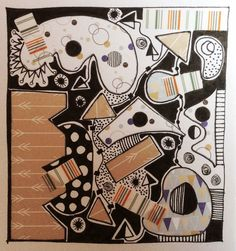 Michèle Brown Artist - The Old Cells Studio: Jumble - collage and drawing