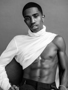 L'Uomo Vogue photographed by Bjorn Iooss. #bjorniooss #christiancombs #artworldagency #artnewyork