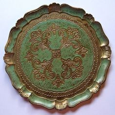 Vintage Florentine Style Tray by HazelLily on Etsy, $17.00