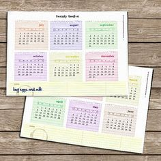 free printable year-at-a-glance calendar for 2012