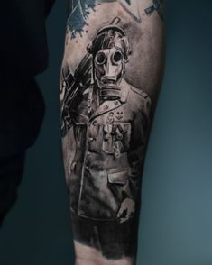 Soldier Large Tattoo Tattoo by Dominic Costoiu Tattoo Artist done at CACTUS INK Bucharest. Yoga Symbole, Cactus Tattoo, Mask Tattoo, Large Tattoos, Beste Tattoo, Tattoo Artists, Soldier Tattoo, Bucharest
