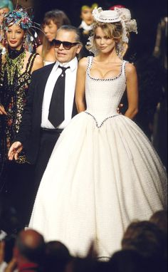 Famous Models Wearing Chanel Couture Wedding Dresses - Claudia Schiffer
