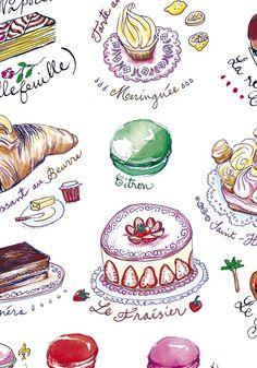 Artist Lucille Prache - esty shop Lucille's kitchen