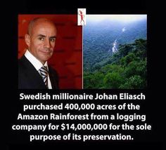 * A real hero. we need more people like him! Our Planet, Save The Planet, Brazil Amazon, Heart Touching Story, Touching Stories, Positive News, Positive Vibes, Rush Limbaugh, Amazon Rainforest