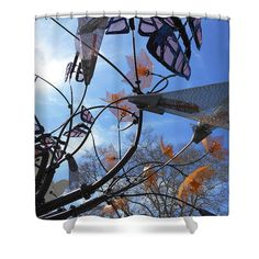Shower Curtains - Recycled Butterflies 2 Shower Curtain by Kevin J Cooper Artwork