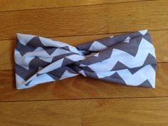 Grey chevron knotted head band by KnottyBandsCo on Etsy, $10.00
