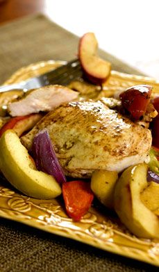 Baked Chicken Breasts with Apples - Here's a new twist on chicken, not to mention a yummy way to get that apple a day into your diet.