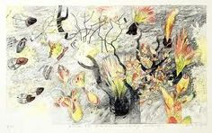 After the Fire - Leaf surge - Australian Galleries lithograph, edition x Landscape Art, Landscape Paintings, Landscapes, Rock Oyster, Earth Pigments, Etching Prints, Paper Frames, Nature Prints, Environmental Art