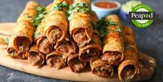Spicy Bean and Cheese Taquitos Recipe from Peapod