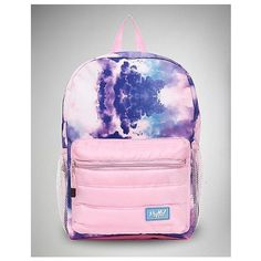Puffed Cotton Candy Cloud Backpack ❤ liked on Polyvore featuring bags, backpacks, cotton bags, colorful bags, pink bag, pink backpack and rucksack bags