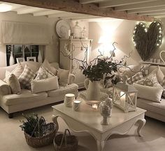 Everyone Is Talking About Cosy Rustic Living Room Design Und Decoration And What You Should Be Doing 127 Farmhouse Living Room Furniture, Cottage Living Rooms, Living Room Decor Cozy, Chic Living Room, Cottage Interiors, New Living Room, Salons Cosy, Living Room Decor Inspiration, Living Room Designs