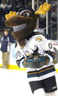 Mick E. Moose, The former mascot for the Manitoba Moose and now Winnipeg Jets mascot.  #Spectrumlearn #mascot #madness