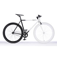 """Name: The November • Designer: Pure Fix Cycles • Description: """"Featuring an alloy frame that fades from white to black and a reversible rear hub that allows you to switch between riding fixed gear and single speed, the bike arrives in the mail 90% assembled."""" — """"November Fixed Gear Bicycle Bike by Pure Fix Cycles"""", Fab.com (Retrieved: 18 July, 2014)"""