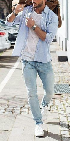 Cool Summer Outfit Ideas Men http://www.99wtf.net/men/mens-fasion/latest-mens-casual-trouser-trend-2016/