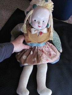 vintage hungarian doll
