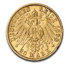 Kaiser Wilhelm II., Preußen, 20 Mark, 7.16g Gold, 1890-1913