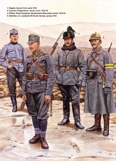 Austro Hungarian troops on the Italian front from  1915-1916