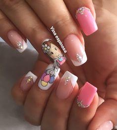 Cool Anime Girl, Cute Acrylic Nails, Amanda, Nail Designs, Nail Art, Pretty, Beauty, Nail Arts, Short Nails Art