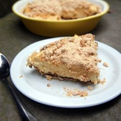 A pie for Mikey, Peanut butter crumb pie with vanilla custard and peanut butter crumbs