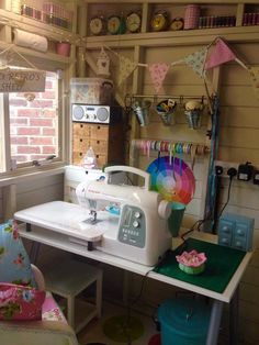 Craft Room She Shed Sewing Spaces 36 Ideas Sewing Spaces, Sewing Rooms, Craft Room Storage, Room Organization, Craft Rooms, Art Shed, Shed Interior, Studio Interior, Coin Couture