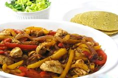 I love fajitas, especially these very lean chicken ones. They're so yummy and come together in a snap! Plus, it's very fun to let everyone customize their own. I use to make my own seasoning…