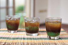 Pandan-flavored Tapioca Pearls in Palm Sugar Syrup