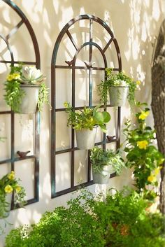 Ideas For Outdoor Patio Wall Ideas Planters Large Outdoor Wall Art, Outdoor Walls, Outdoor Pergola, Garden Wall Designs, Garden Wall Art, Garden Design, Patio Wall Decor, Landscape Lighting Design, Garden Gazebo
